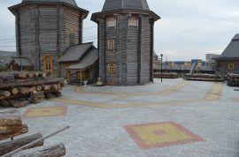 Тротуарная плитка производство и укладка в Мурманске. Подворье Трифоно-Печенского монастыря.