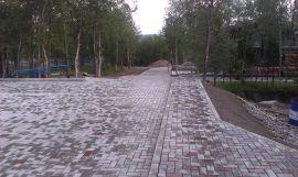Тротуарная плитка производство и укладка в Мурманске.